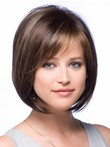 Perruque courte de style bob full lace en vogue lisse