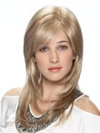 Perruque synthétique lace front multicouche glamoureuse blonde