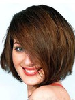Perruque longueur cheveux natureles en vogue capless mi-longue charmante