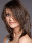 Perruque abordable cheveux humains attractive lisse lace front