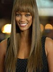 Perruque lace front lisse populairer tyra banks de style