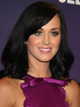 Perruque longue de style bob attrayante de katy perry