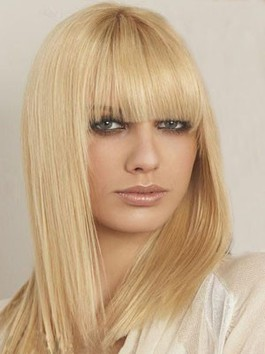 Perruque cheveux naturels lisse abordable incroyable capless