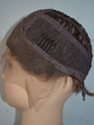 Perruque synthétique excellente lace front glamour - Photo 3