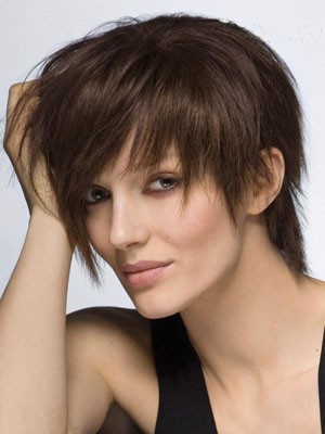 Perruque capless lisse cheveux humains glorieuse attractive - Photo 1