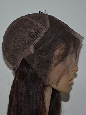 Perruque abordable abordable cheveux naturels lisse lace front - Photo 2